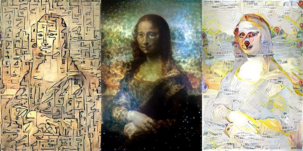 Gene Kogan - Style Transfer - Mona Lisa